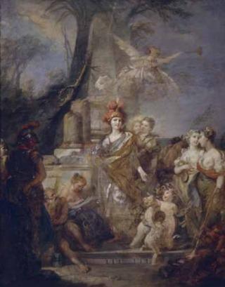 Stefano Torelli Catharina II in de gedaante van Minerva, beschermvrouwe van de kunsten, ca. 1765–70. Staats Tretjakov Galerij, Moskou © 2016 Photo Scala, Florence
