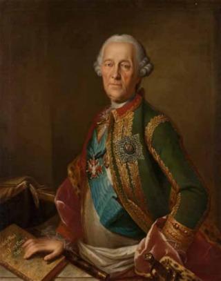 Heinrich Buchholtz (1735–1780) Portret van graaf Burkhard Christoph von Münnich, 1765–70
