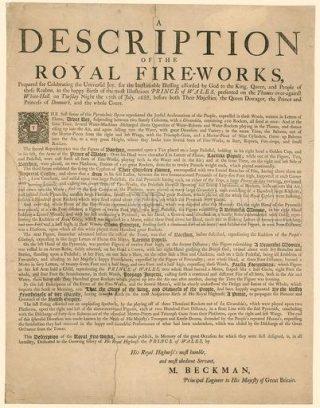 Bij de geboorte van kroonnprins Jacobus werd een 'koninklijk vuurwerk' ontstoken.