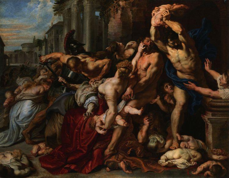 De slachting der onschuldigen / De Kindermoord te Bethlehem (Peter Paul Rubens)