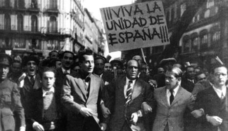 Falangistische demonstratie 1934