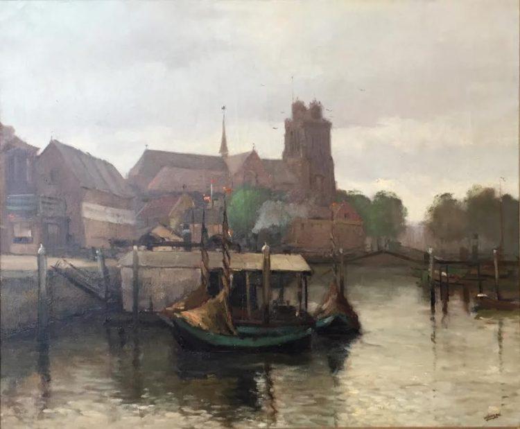 Het schilderij van Wim Jansen (Dordrechts Museum)