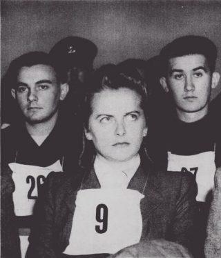 Irma Grese tijdens het proces