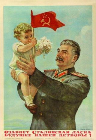 Stalin op een poster uit de Sovjet-tijd