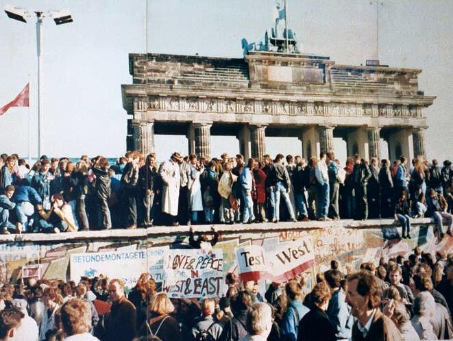 Tijdens de val van de muur in 1989