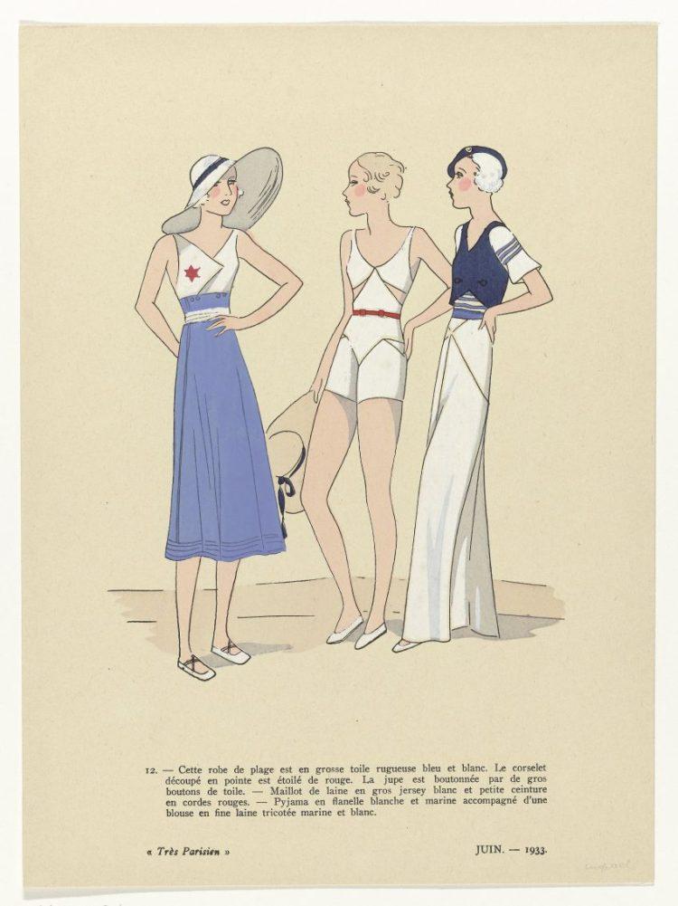Prent uit het modetijdschrift Très Parisien, 1933, Rijksmuseum (RP-P-2009-3876)
