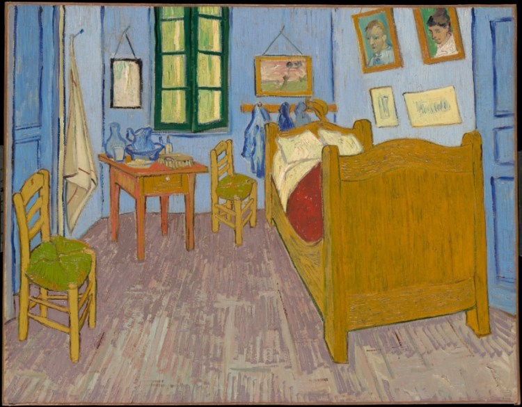 De slaapkamer van Van Gogh in Arles (Musée d'Orsay)