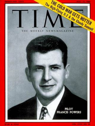 Gary Powers op de cover van Time Magazine