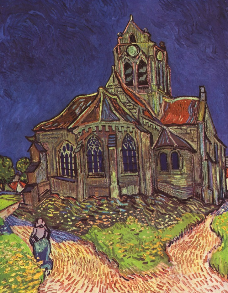 Kerkje in Auvers - Vincent van Gogh, 5 juni 1890