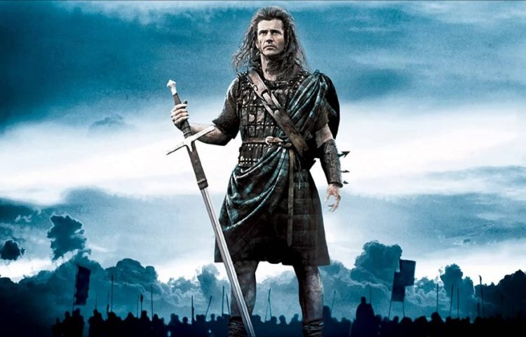 Mel Gibson als William Wallace in de film Braveheart (Still YouTube)