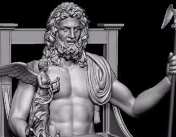 Standbeeld Zeus opnieuw gemaakt met 3D-printer - thegatemuseum.org