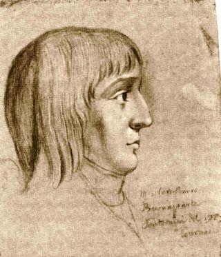 Tekening van Napoleon Bonaparte op 16-jarige leeftijd. Tekening van Pontornini, 1785. Bron: Wikimedia.