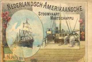 Affiche van de Nederlandsch-Amerikaansche Stoomvaart Maatschappij. Bron: Hollandamericablog.com