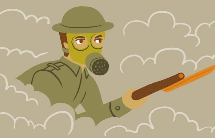 Animatie over de geschiedenis van wapens
