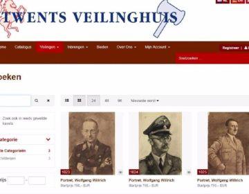 De portretten toen ze nog op de website van het veilinghuis te zien waren