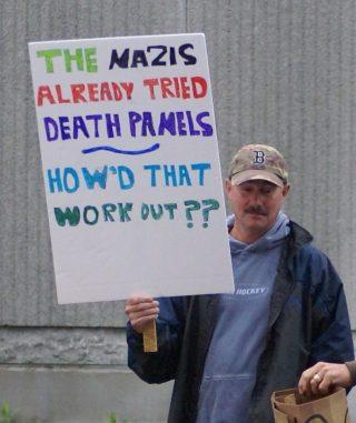 'Death Panel'-demonstrant