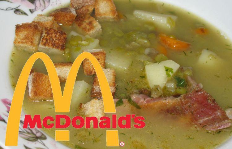 Erwtensoep bij McDonald's