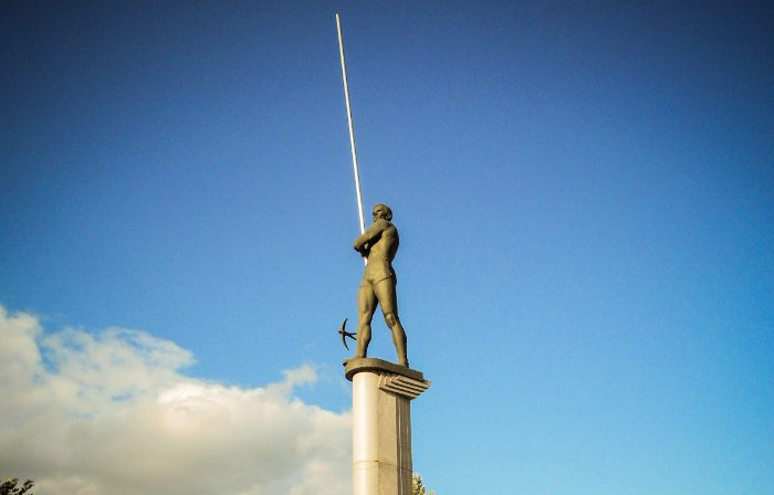 Monument voor Boebka in Donetsk - cc