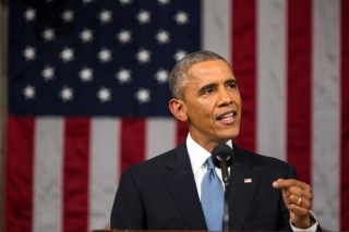 Obama tijdens zijn State of the Union van 2015 - cc