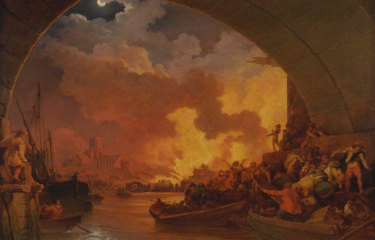 Philippe-Jacques de Loutherbourg - De grote brand van Londen, 1666