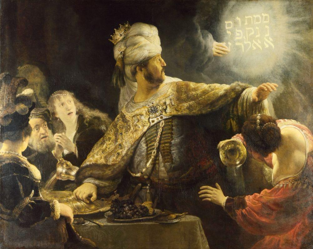 """Rembrandt schilderde """"Belsazars feest"""" in 1635"""