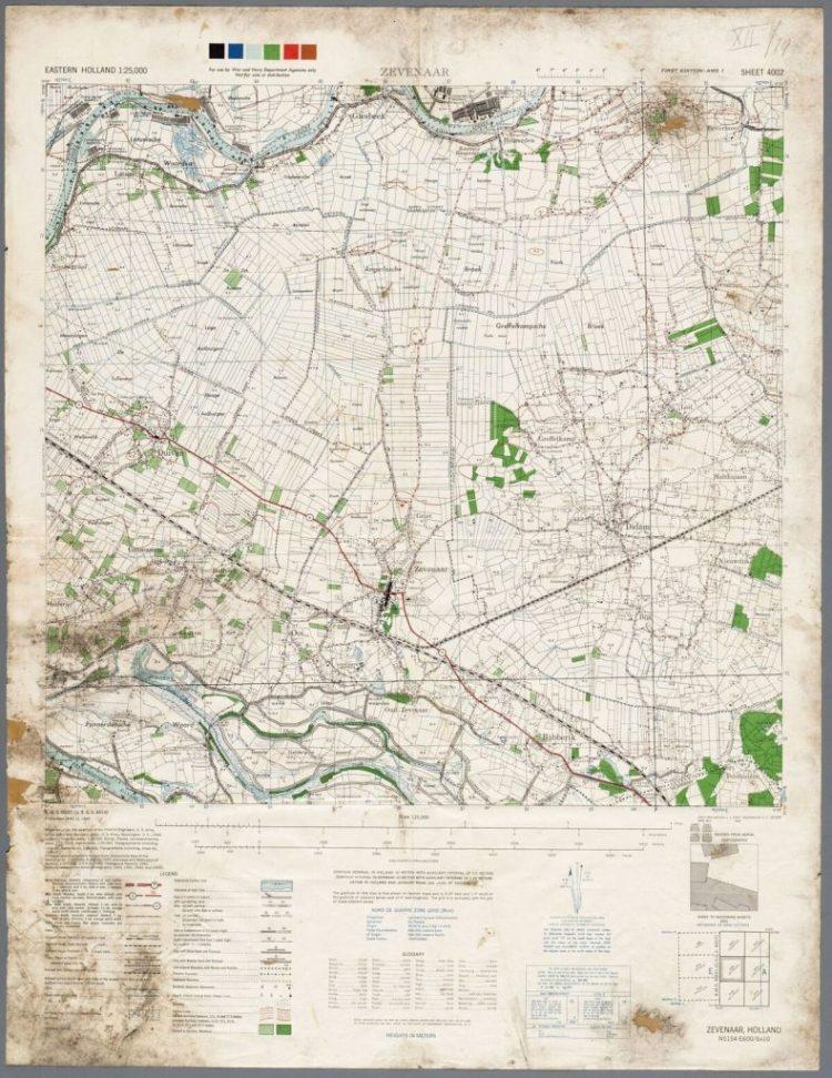 Rozet - Kaart van Zevenaar, 1944