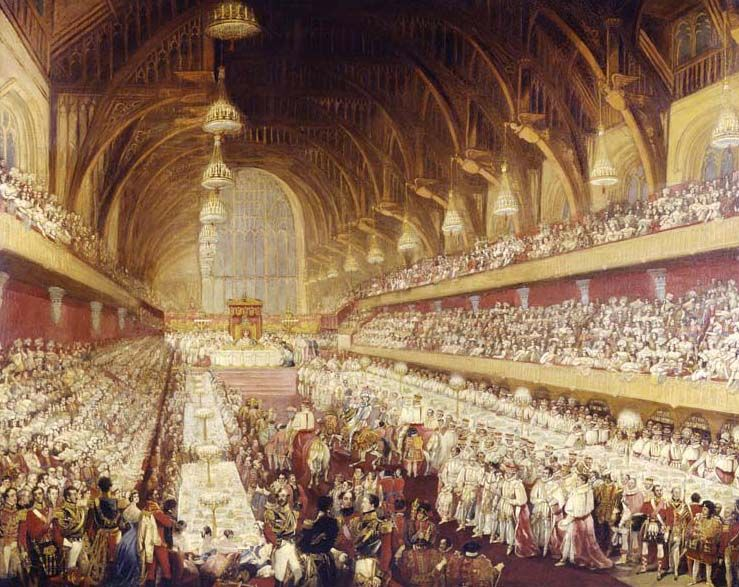 Westminster hall in 1821