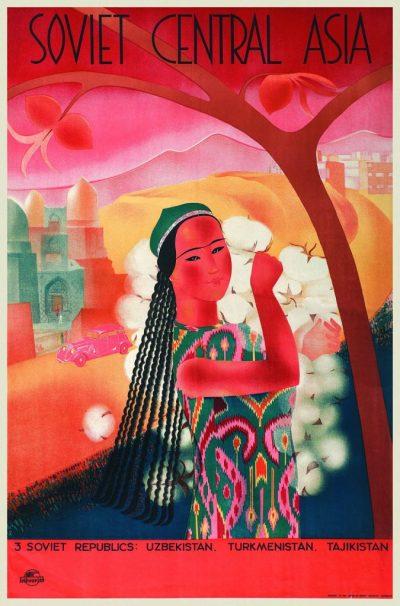Affiche Sovjet-Midden-Azië, Maria Nesterova, ca. 1935