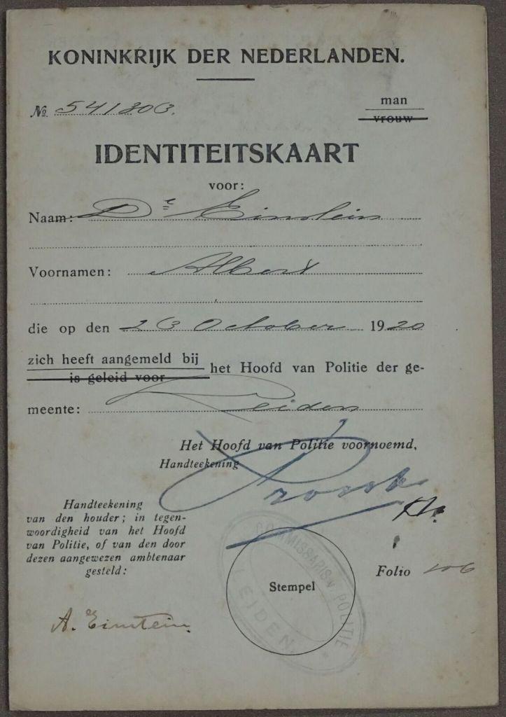 """Erfgoed Leiden e.o. - """"Einstein is in Leiden – in Leiden is Einstein"""""""