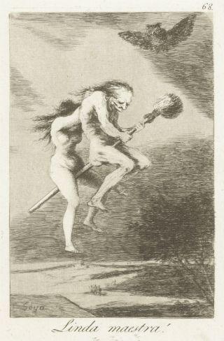 Heksen vormden een bron van angst. Francisco de Goya maakte een serieprenten over heksen tussen 1797 en 1799.