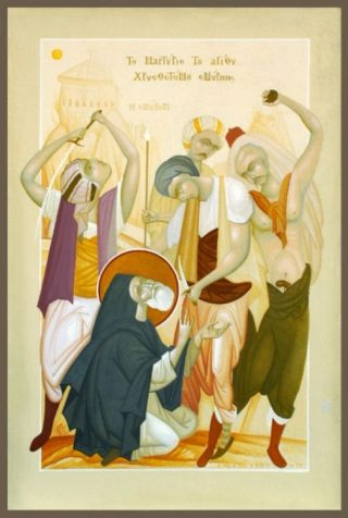 De marteldood van Chrysostomos van Smyrna