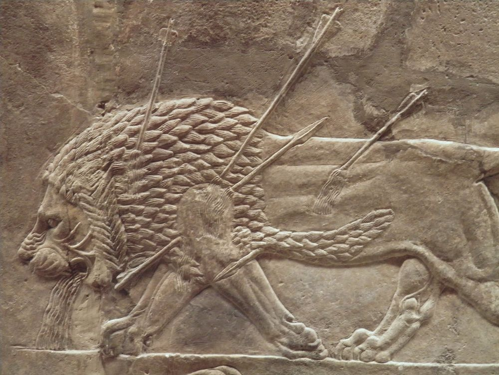 Detail leeuwenjacht Ashurbanipal - cc