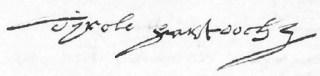 Handtekening van Dirk Hartog - cc