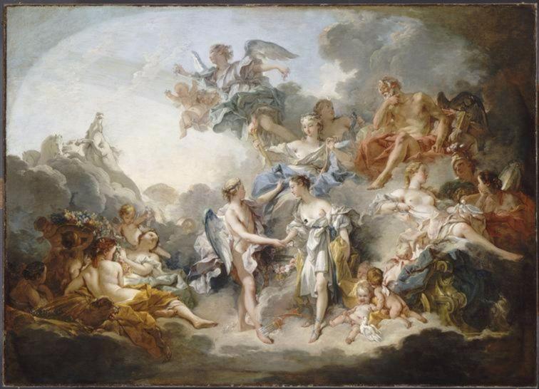 Het huwelijk van Eros (Amor) en Psyche