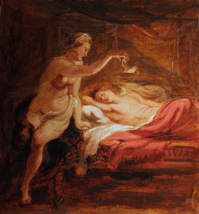Psyche en de slapende Eros, Peter Paul Rubens