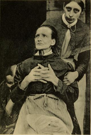 En psychiater met zijn patiënt, 1908.