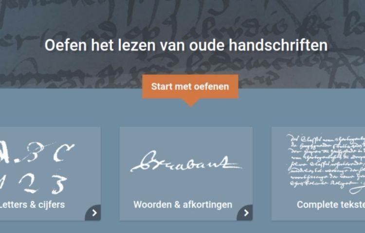 Wat staat daer? - Een online oefentool voor het lezen van oude handschriften