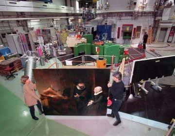Schilderij 'Dubbelportret van doopsgezinde predikant Cornelis Claesz. Anslo en zijn vrouw Aeltje Gerritsdr. Schouten' in de kernreactor Helmholtz Zentrum Berlin (RKD)