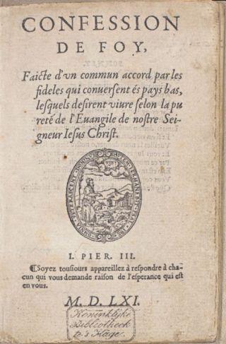Confession de foy / Guido de Brès, 1561 (KB)