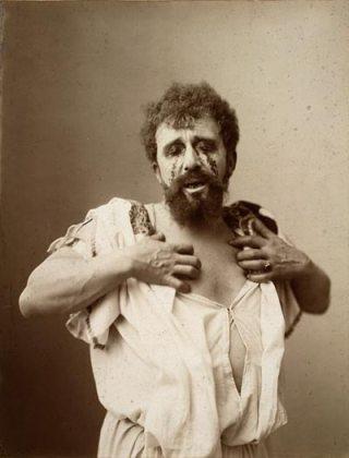 De Nederlandse toneelspeler Louis Bouwmeester als Oedipus - cc