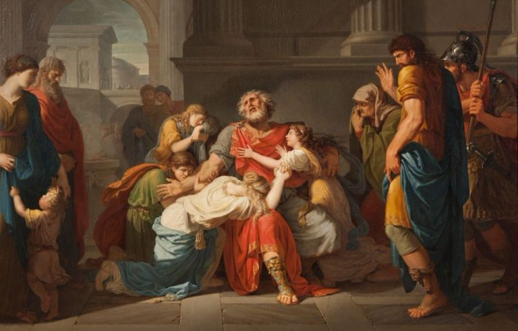 De blinde Oedipus - Bénigne Gagneraux