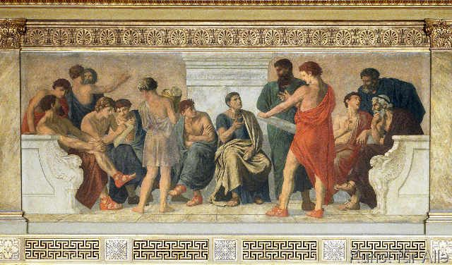 De school van Aristoteles (onbekend)