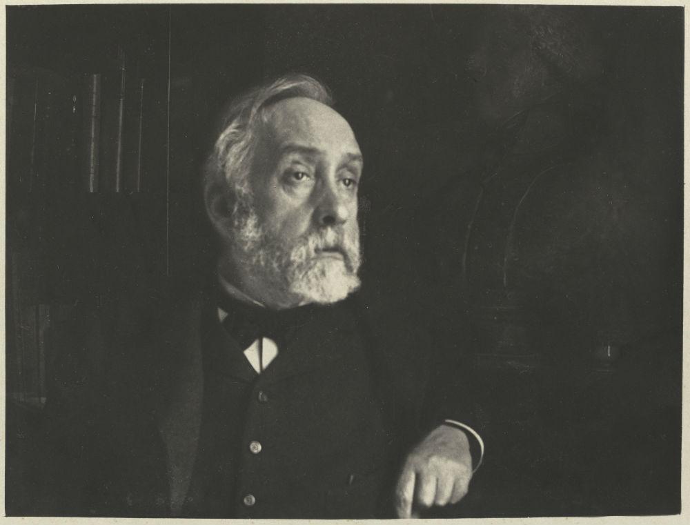 Degas, zelfportret in zijn bibliotheek, 1895