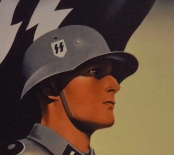 Detail van een poster van de Waffen-SS
