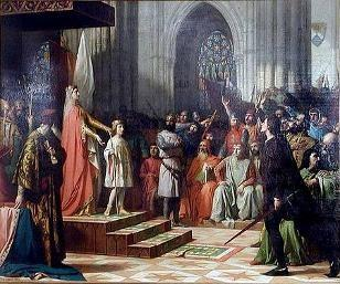 Maria van Molina en Ferdinant IV in 1295