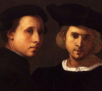 Portret van twee vrienden - Pontormo, c. 1522