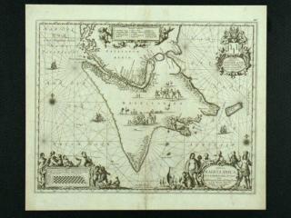 Tabula Magellanica Qua Tierrae del Fuego. Kaart gemaakt door J. Janssonius, ca. 1652. Afgebeeld is Vuurland, met daarboven de straat Maggelaan