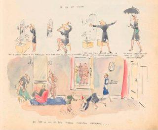 Strip uit het eerste dagboek van Toby Vos 'Ik ga op visite' (Bron: Atria | Kennisinstituut voor Emancipatie en Vrouwengeschiedenis)