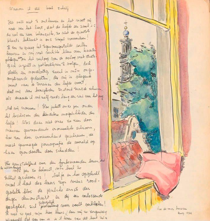 Het roze kussen is terugkerend in zowel het eerste als tweede dagboek van Toby Vos (Bron: Atria   Kennisinstituut voor Emancipatie en Vrouwengeschiedenis)
