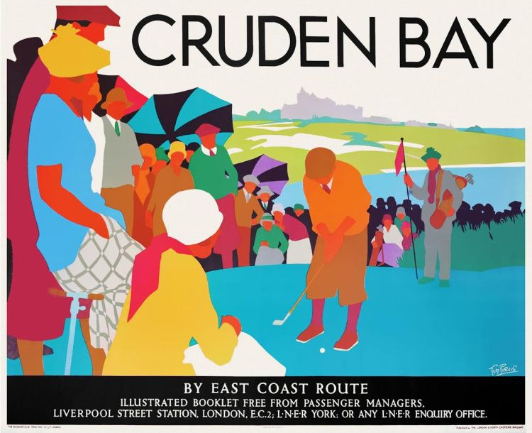 Affiche Cruden Bay, Tom Purvis, ca. 1930